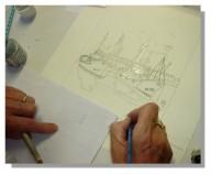 Atelier Taiccap' Aquarelle Simone Mouillage à St J de L. 2