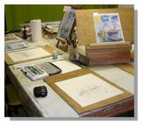 Atelier Taiccap' Aquarelle Simone Mouillage à St J de L. 3