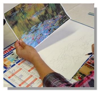 Atelier Taiccap' Pastel Rose-Marie Reflets sur l'étang de Giverny 1