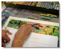 Atelier Taiccap' Pastel Rose-Marie Reflets sur l'étang de Giverny 3