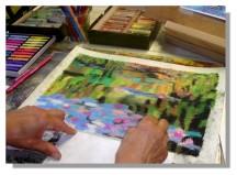 Atelier Taiccap' Pastel Rose-Marie Reflets sur l'étang de Giverny 4
