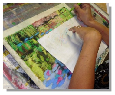 Atelier Taiccap' Pastel Rose-Marie Reflets sur l'étang de Giverny 6