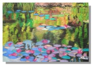 Atelier Taiccap' Pastel Rose-Marie Reflets sur l'étang de Giverny 7