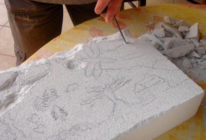 Carolina Bas relief Beton cellulaire 1