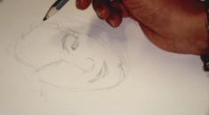 Dessin Portrait de Carolina par sa fille 1