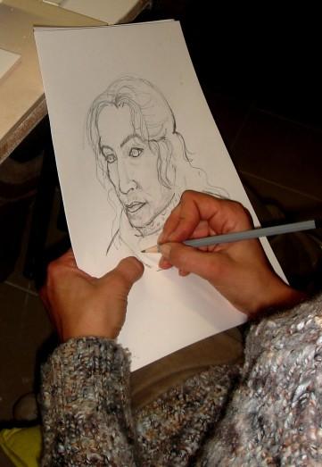 Dessin Portrait de Carolina par sa fille 2