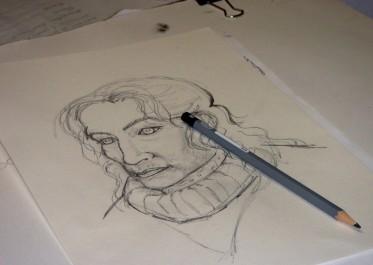 Dessin Portrait de Carolina par sa fille 3