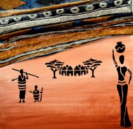 Marie Africa Collage et acrylique 3