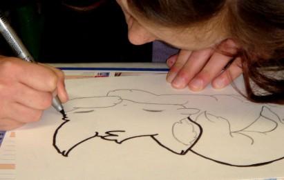 Milena Dessin et collage Les chats 1