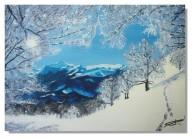 Rose-Marie Acrylique Paysage de montagne 10