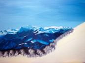 Rose-Marie Acrylique Paysage de montagne 5