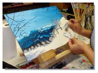 Rose-Marie Acrylique Paysage de montagne 6