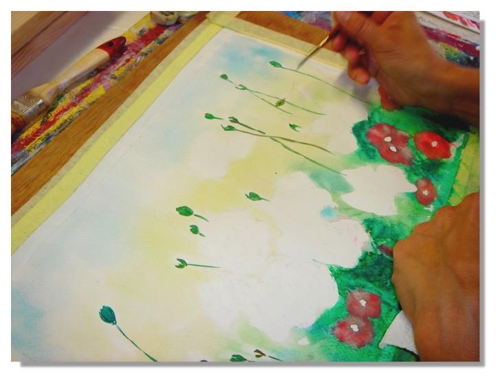 Rose-Marie Aquarelle Coquelicots 6
